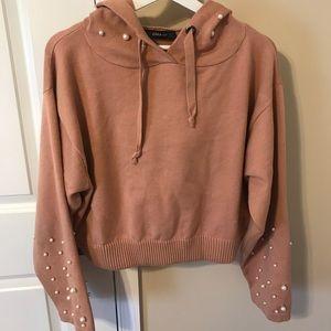 Zara Pink & Pearl Sweater